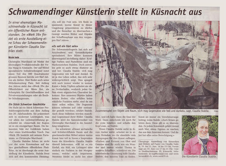 Claudia-Zeitung Zuerich_nord